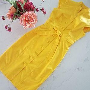 Stunning,  Calvin Klein Yellow Shirtdress